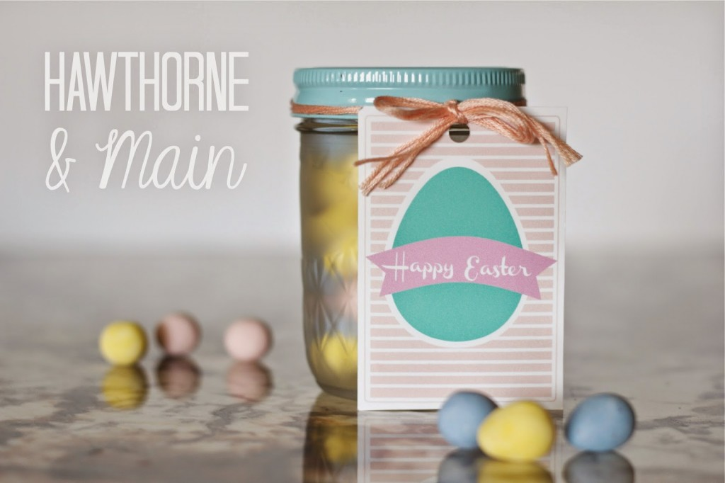 Check out this cute free printable Easter gift tag! What an easy way to customize a gift for the Easter season! People will love a gift with this Happy Easter tag!
