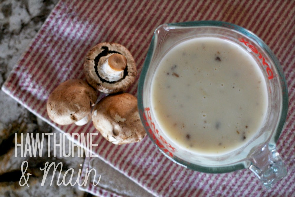 Store bought cream of mushroom soup is full of chemicals and a ton of calories. Learn how to make healthy and cheap homemade cream of mushroom soup. So easy!