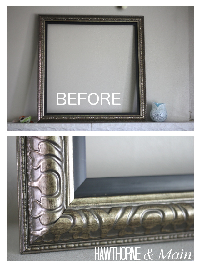 DIY Distressed Picture Frame – HAWTHORNE AND MAIN