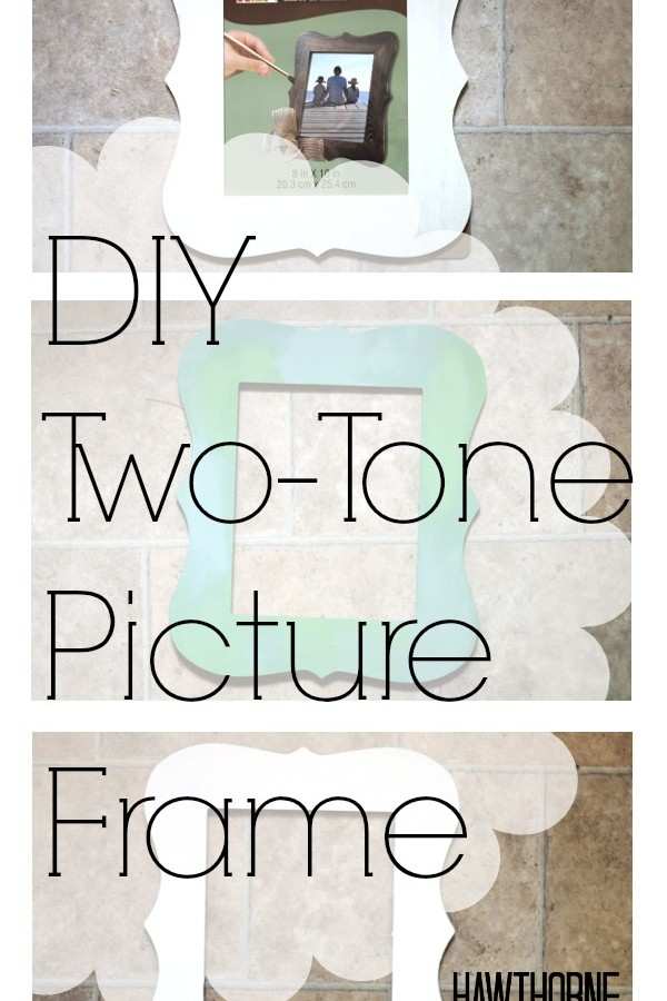 DIY Two-Tone Picture Frame