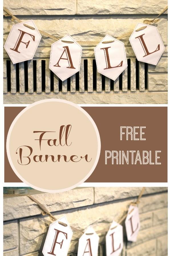 Fall Banner- Free Printable