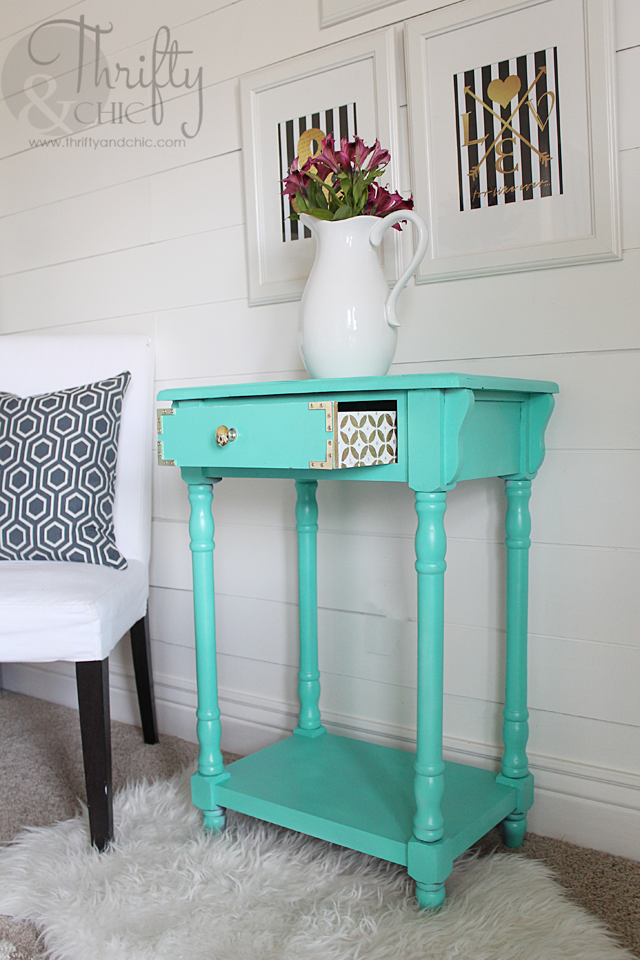 Furniture painting idea -add fun design to side of drawers