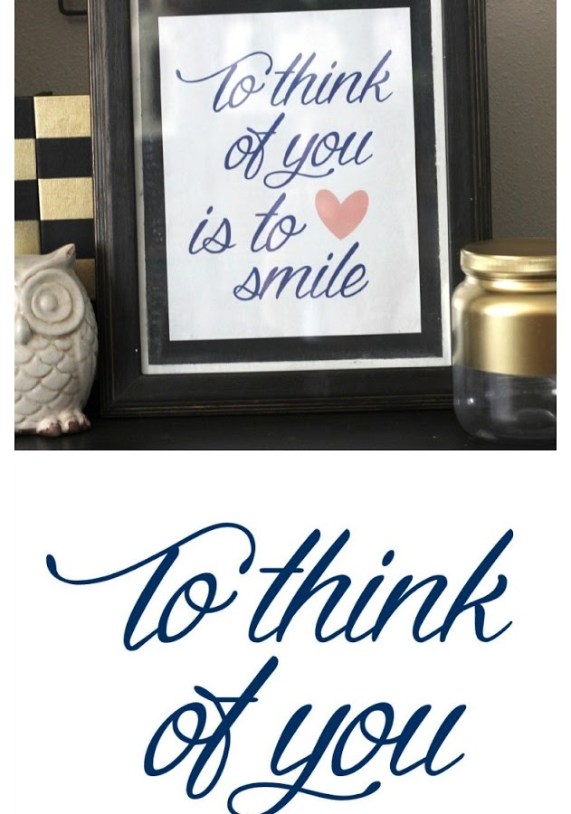 To Think of You is to Smile — Free Printable