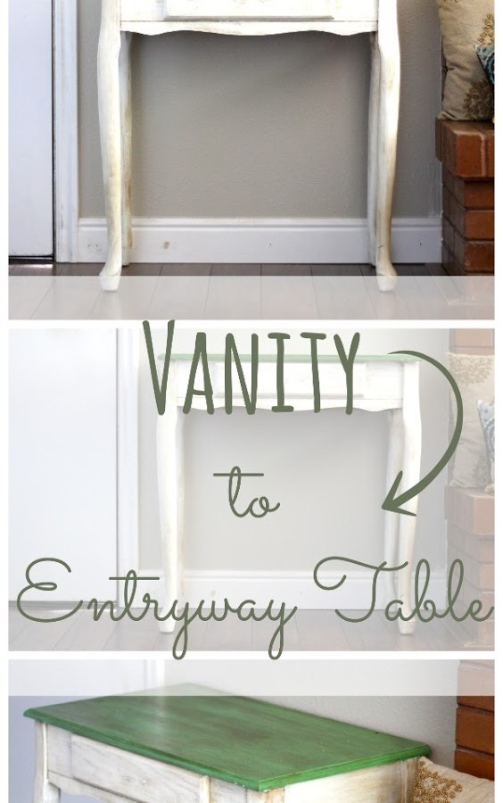 Vanity to Entryway Table Makeover