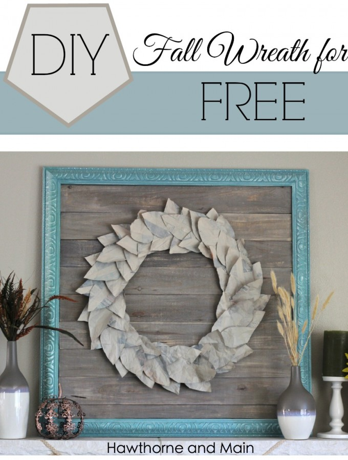 DIY Fall Wreath for FREE