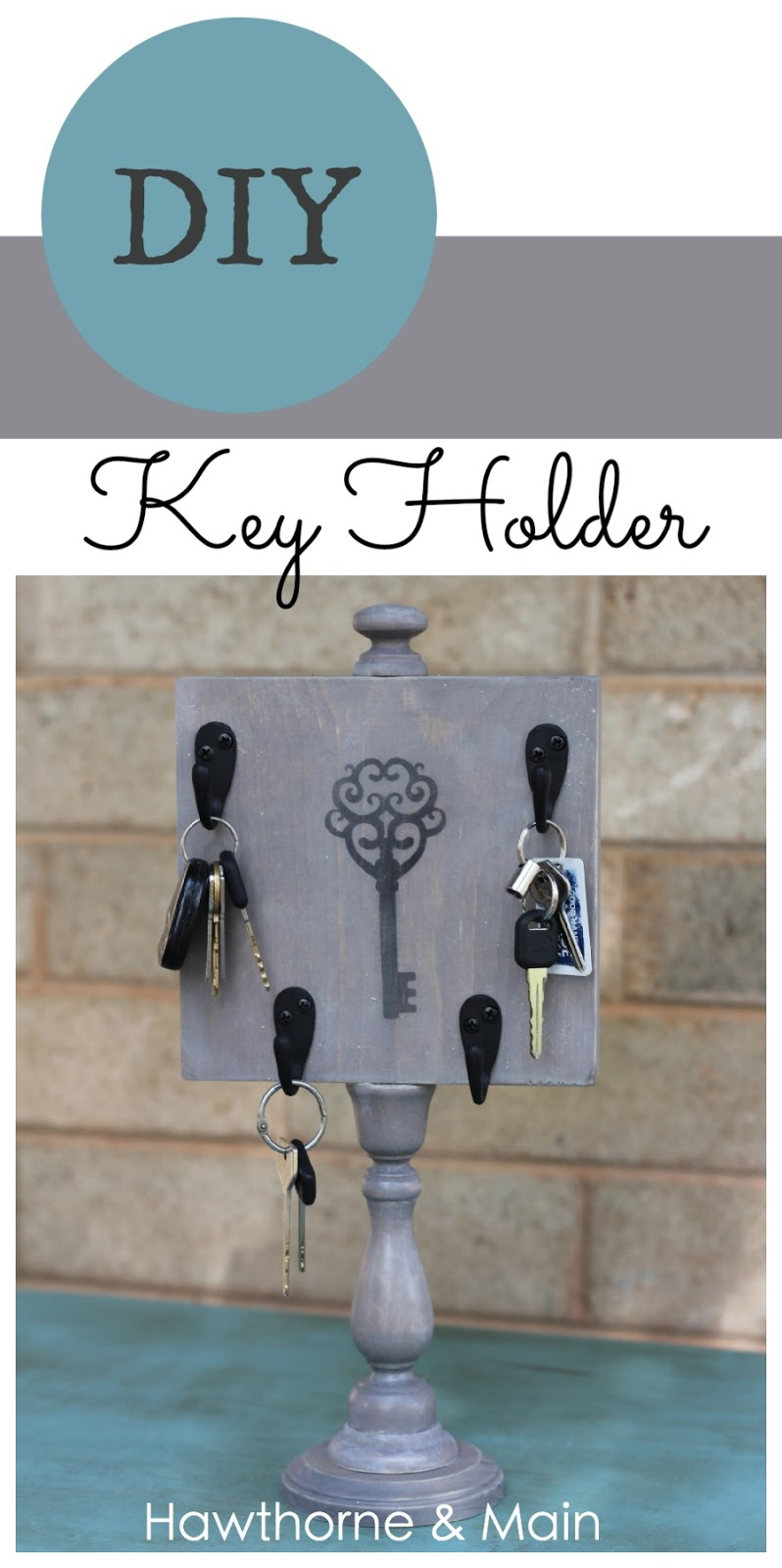 DIY Key Holder - HAWTHORNE AND MAIN