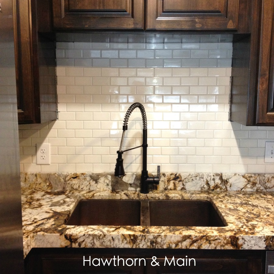 diy kitchen backsplash hawthorne and main diy kitchen back splash the easy way hometalk