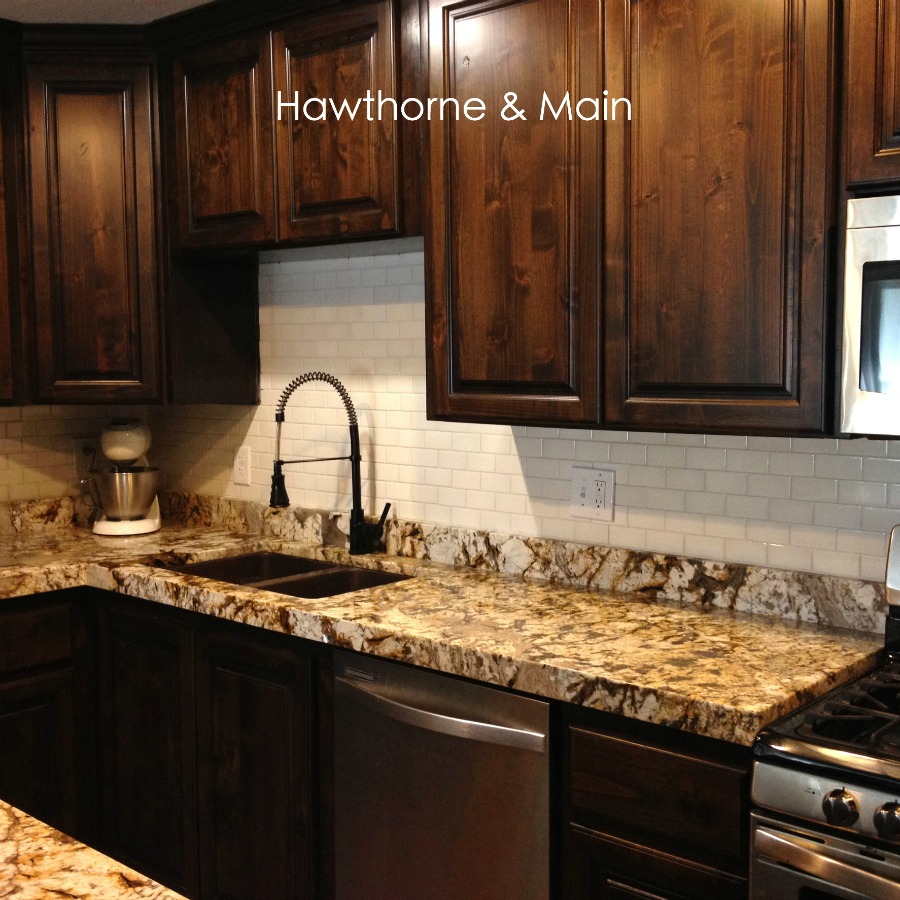 Kitchen Backsplash Granite: DIY Kitchen Backsplash
