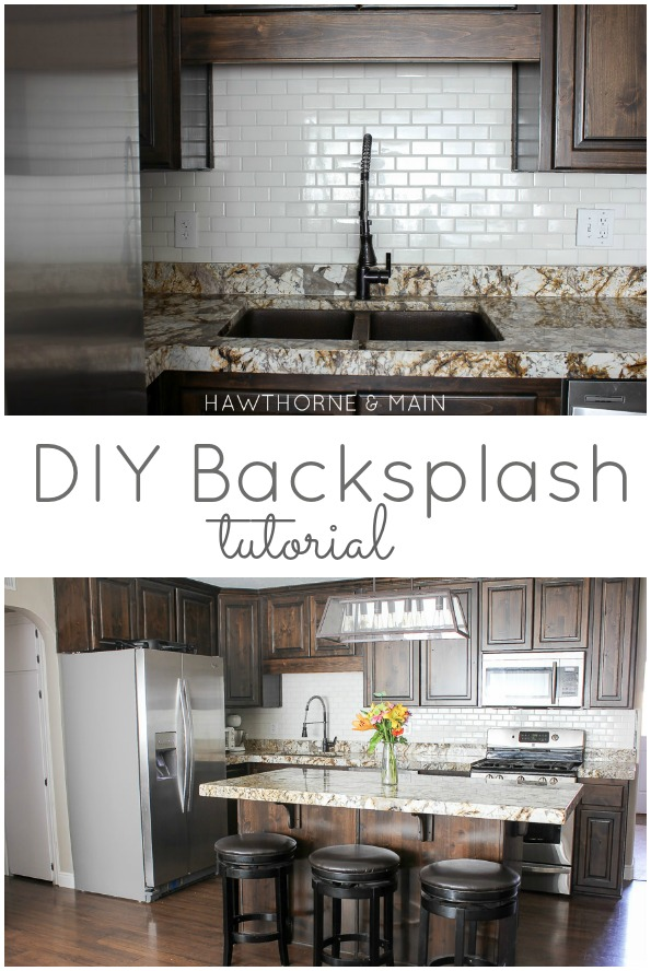diy kitchen backsplash  hawthorne and main,Kitchen Backsplash Diy,Kitchen decor