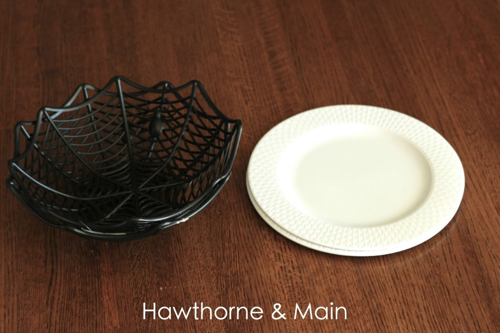To make these cake stands add a little bit of the E6000 Craft Adhesive ... & DIY Halloween Dollar Store Cake Stand \u2013 HAWTHORNE AND MAIN