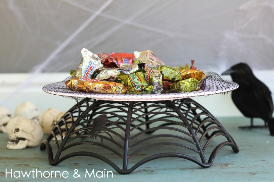 What would you display on this cake stand? Cake maybe\u2026 & DIY Halloween Dollar Store Cake Stand \u2013 HAWTHORNE AND MAIN