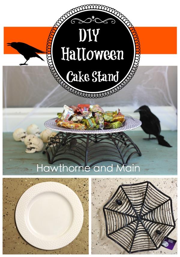 DIY Halloween Dollar Store Cake Stand