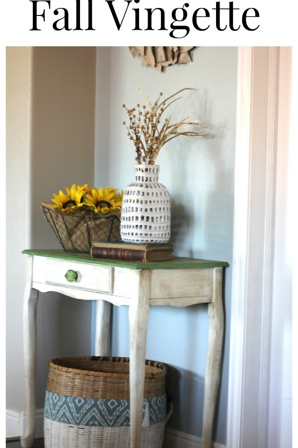 Simple Fall Vignette with Green Table update!