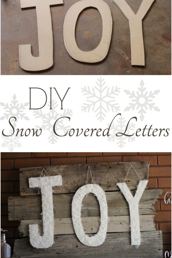 JOY Snow Covered Letters