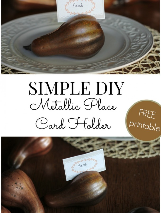 Simple DIY Metallic Place Card Holder