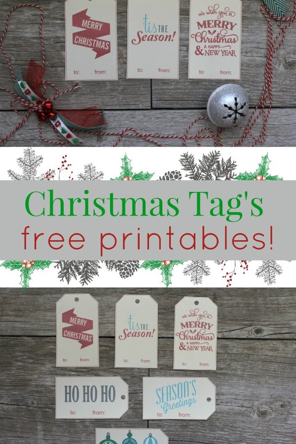 Holiday Gift Tags- FREE Printables!!!