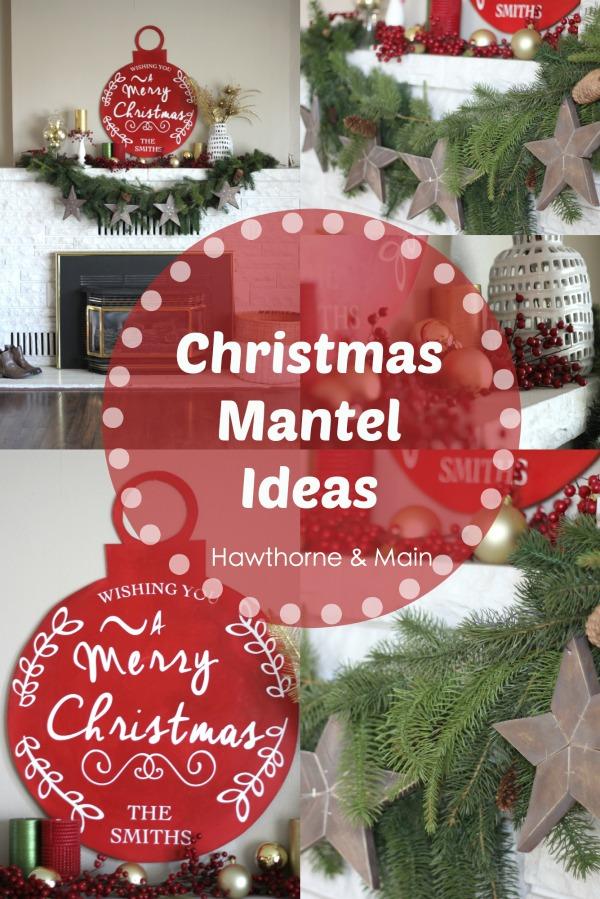 Christmas Mantel- Traditional