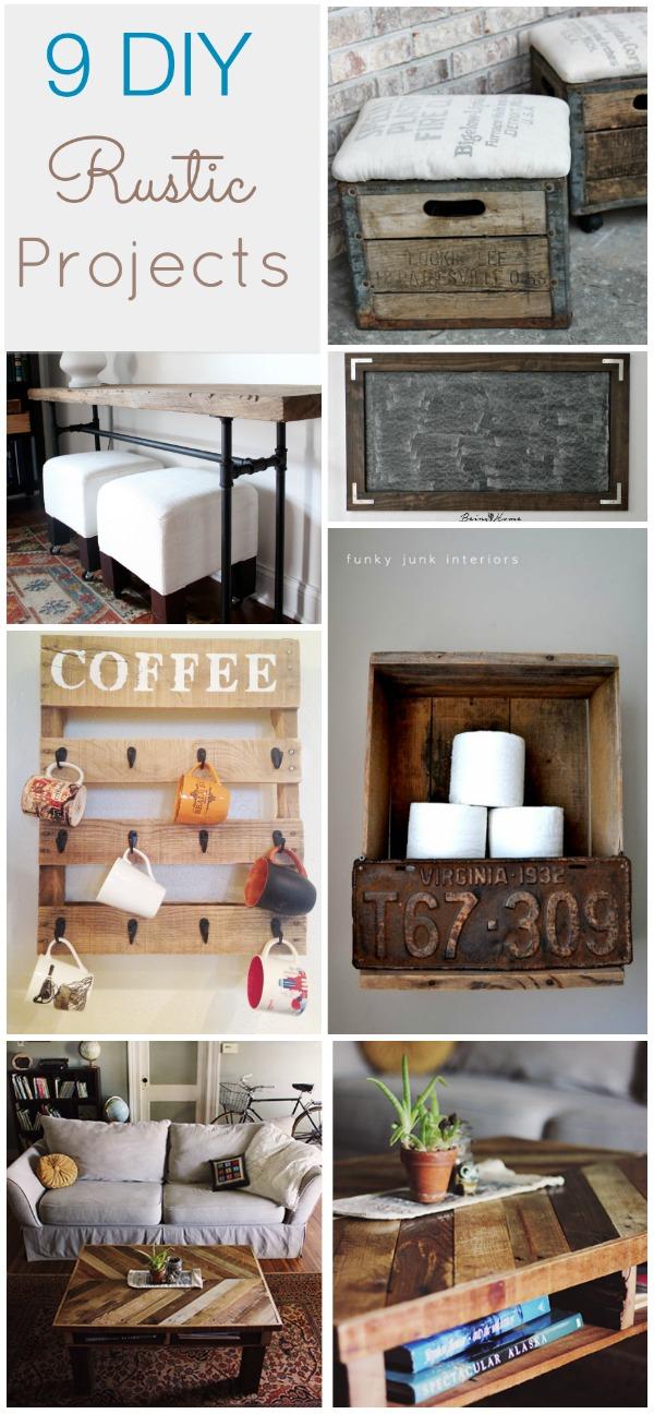 9 Rustic DIY Ideas - HAWTHORNE AND MAIN