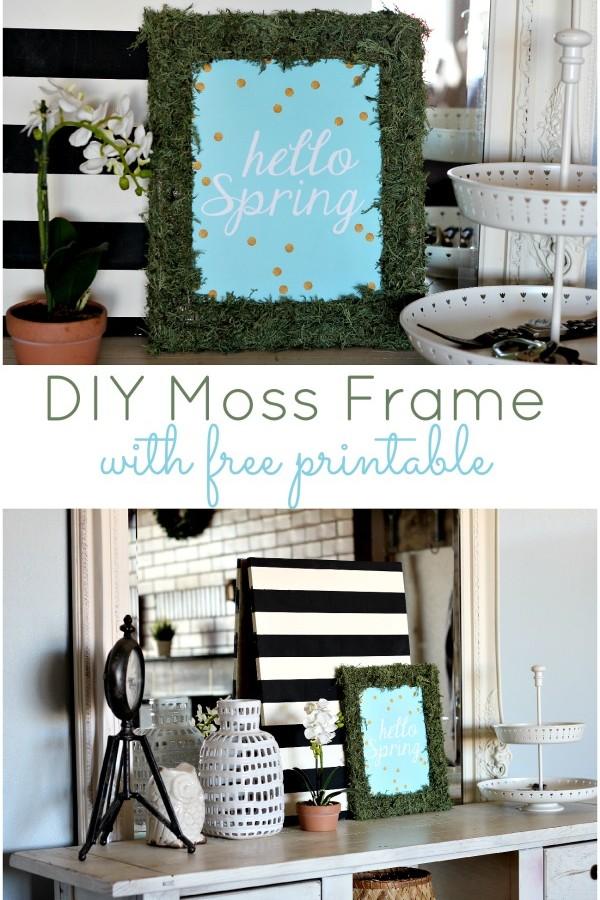 DIY Moss Frame with Free Printable!!