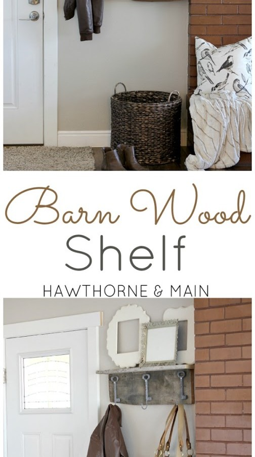 Barn Wood Shelf and Coat Rack