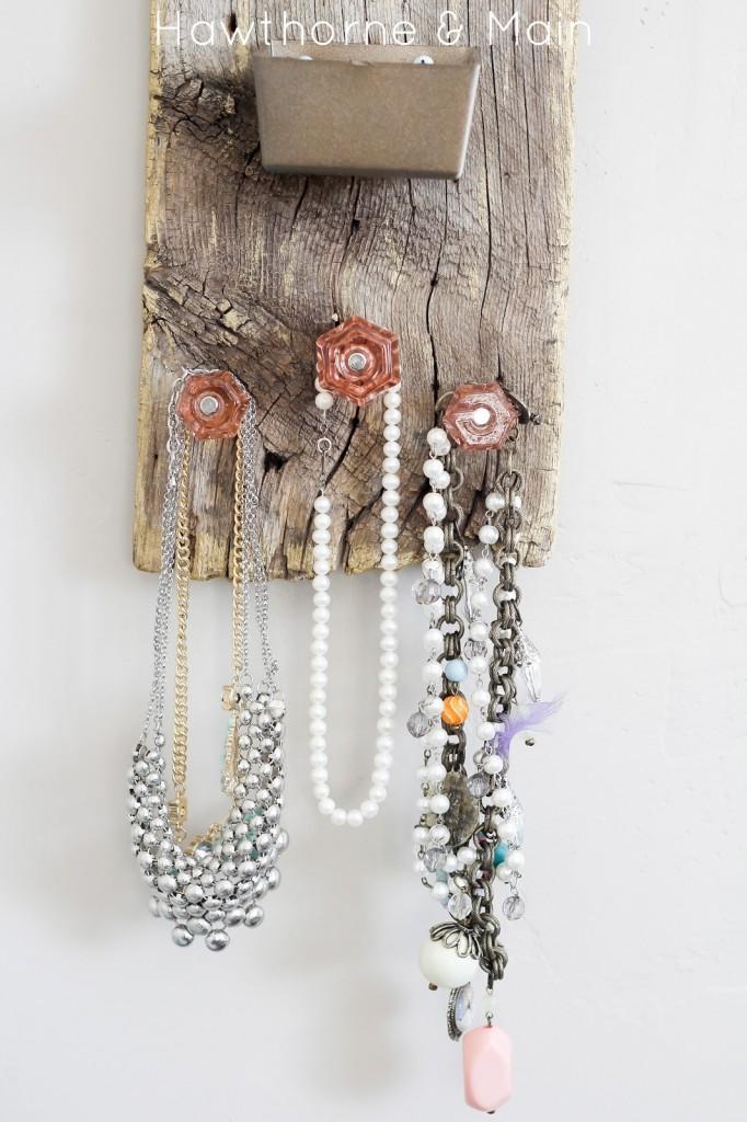 Barn Wood Jewelry Holder HAWTHORNE AND MAIN