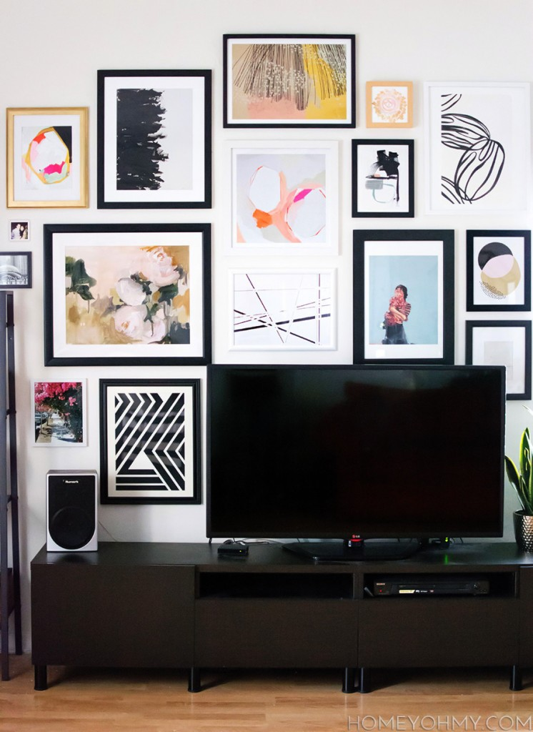 14 Ideas Solutions For A Gallery Wall Behind The Tv