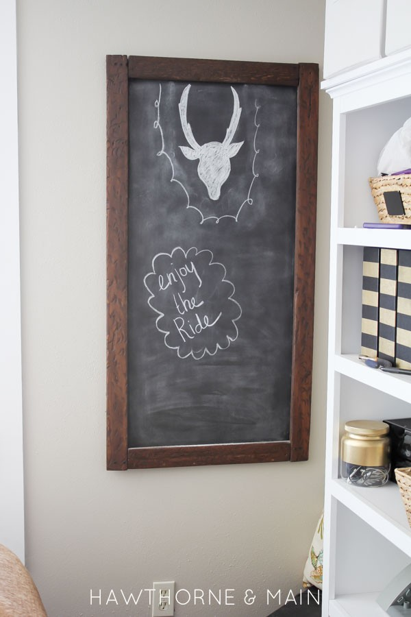 DIY Distressed Wood Chalkboad