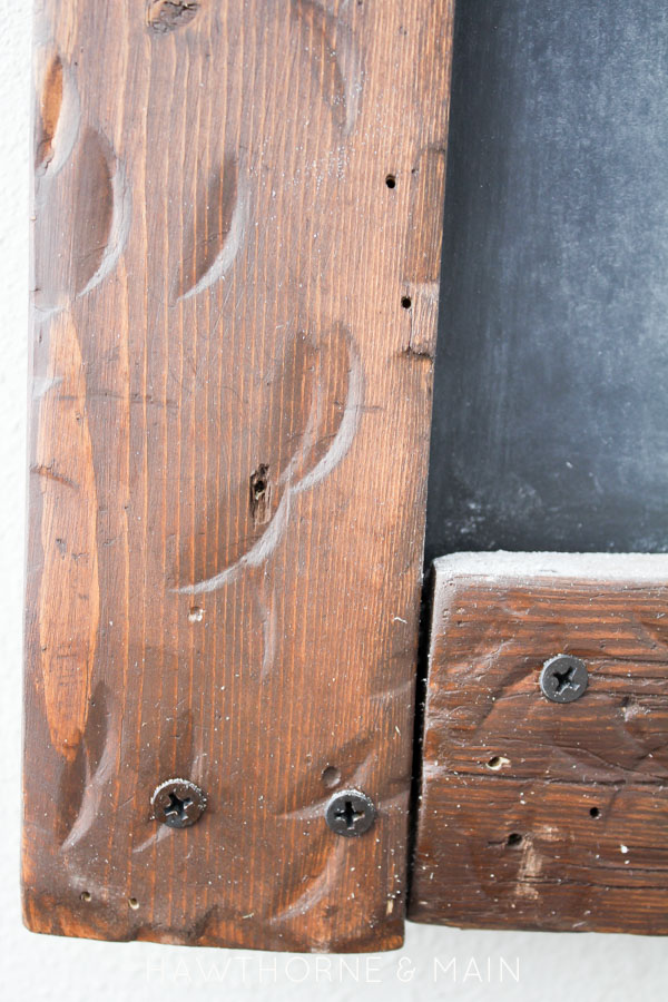 This DIY distressed chalk board looks easy to make! I still love chalkboard and use them all the time! I love the rustic look of this one!