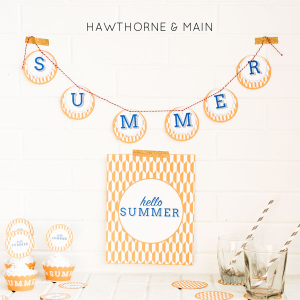 Check out these free Hello Summer Party Printable. They are perfect for your next summer party or get together! Cannot wait for summer!