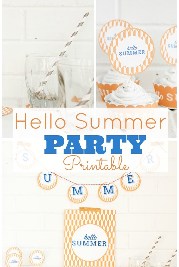 Hello Summer Party Printable