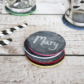 Chalk board coasters 6