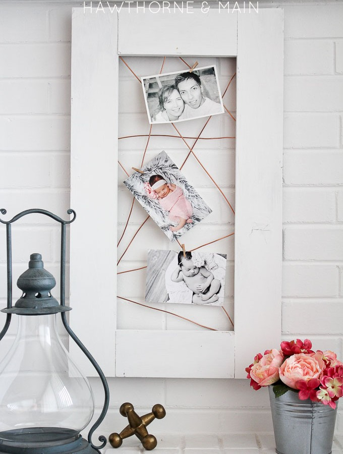 Copper Wire Photo Display