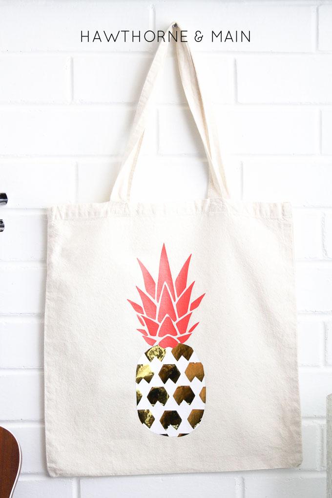 DIY Pineapple Bag - HAWTHORNE AND MAIN