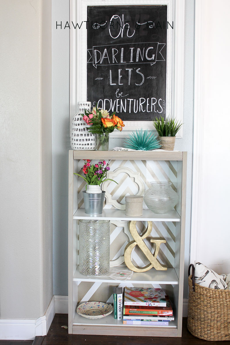 Check out this super easy Target bookshelf hack! I totally could do this! Plus I love the look of the light wood! Such a pretty piece!