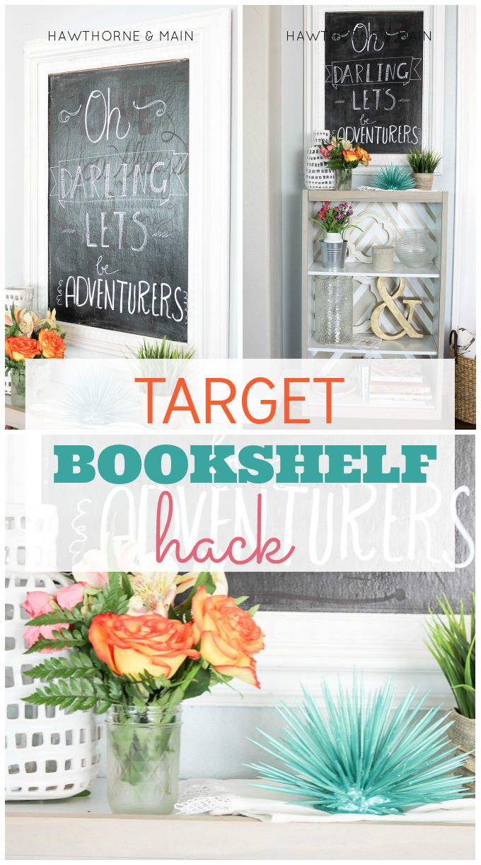 Check out this super easy Target bookshelf hack! I totally could do ...