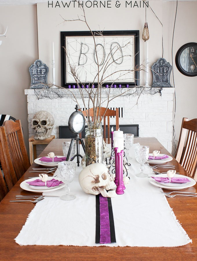 Halloween Dinning Room and Mantel Tour