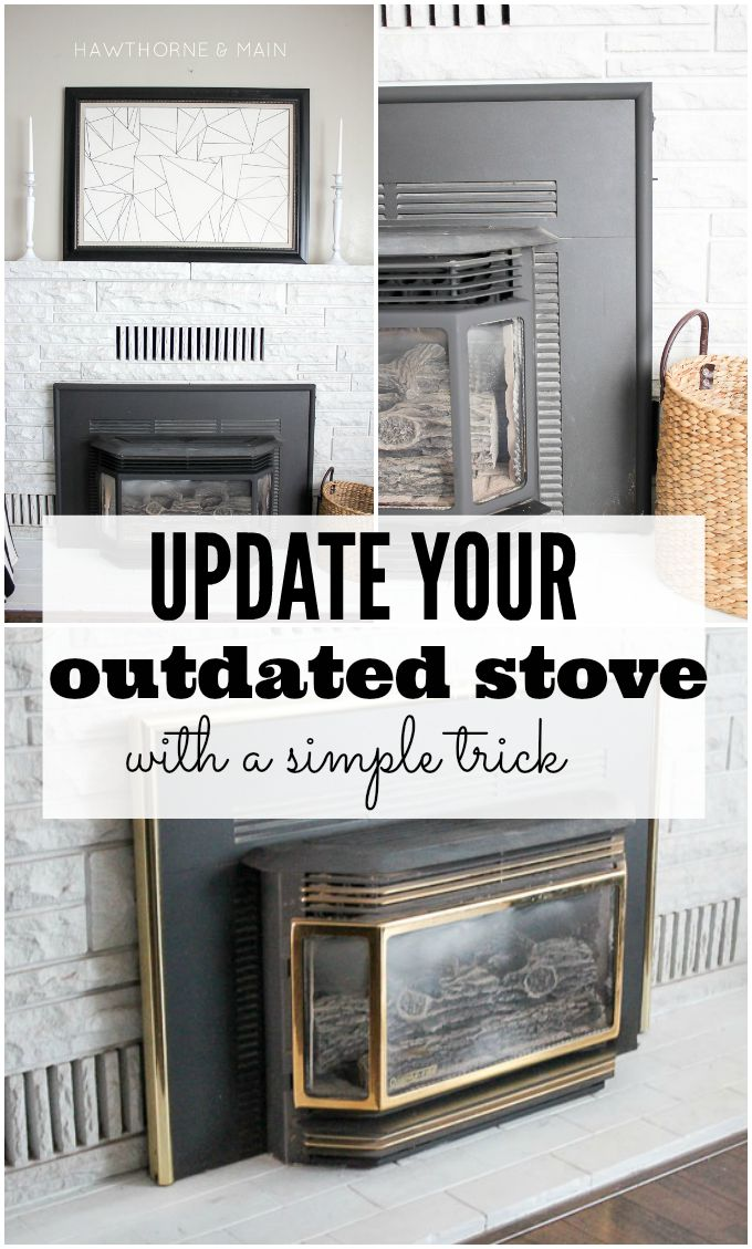 Do you have an outdated stove? Maybe it has some old brass on it.  Let me show you how easy it is to update that outdates look for a total transformation!
