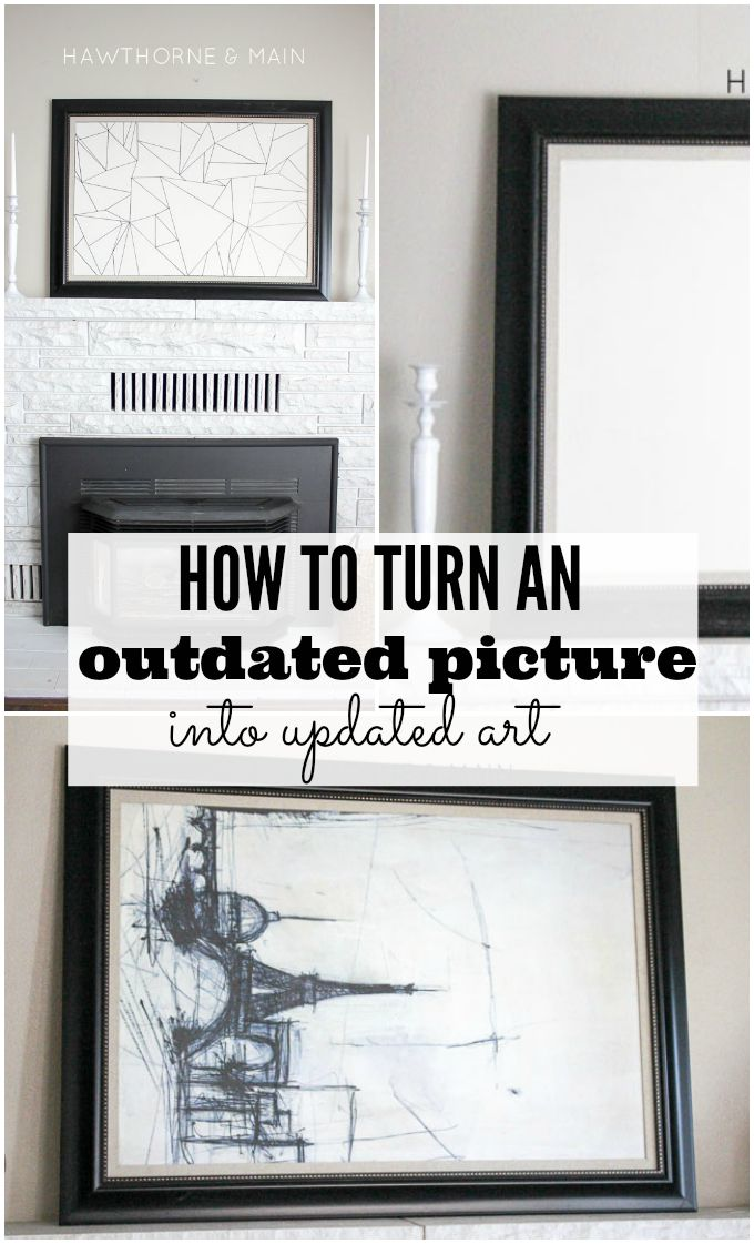 Come and see how easy it is to turn an outdated picture into updated art! It only takes a few supplies. you will be surprised how easy it is to recreate!