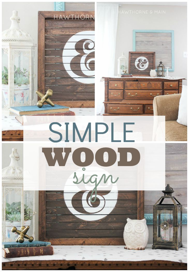 This simple sign is a great addition to any space. It is very customizable which means you can make it the perfect color and size for your space.