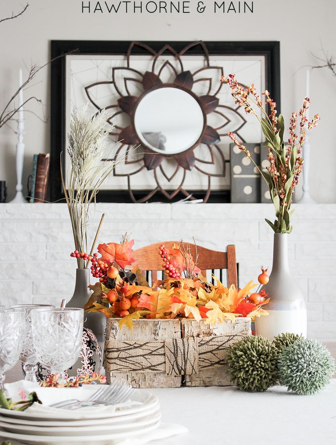 Woodsy Fall Centerpiece