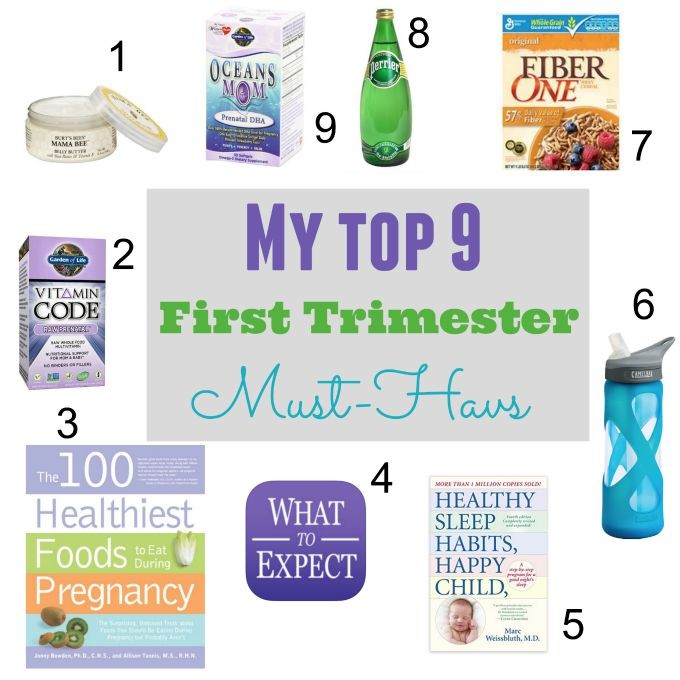 My Top 9 First Trimester Must-Havs
