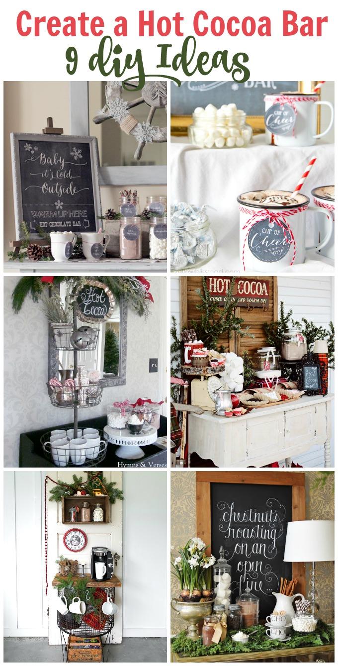 9 Hot cocoa bar ideas