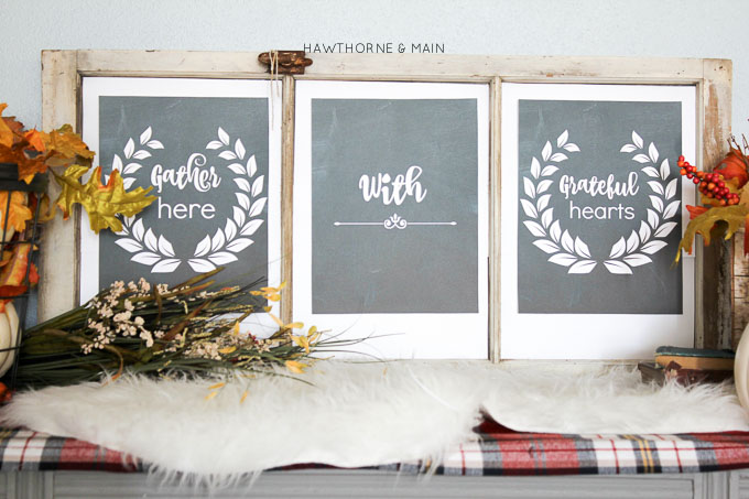 What a great fall printable! This will go perfect with my fall decor.  Follow the link to get your copy of Gather Here with Grateful Hearts Free Printable.