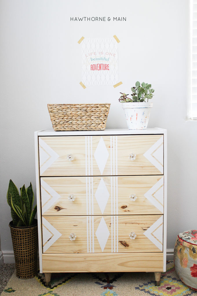 Love this IKEA RAST hack. All you need are a few supplies to make over this cheap ikea dresser into a sleek modern mid century dresser or night stand.