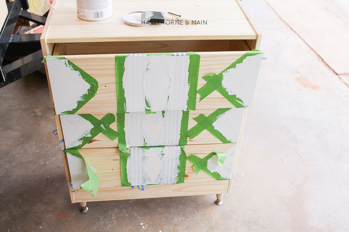IKEA+rast+hack+paint+and+tape+tribal 9