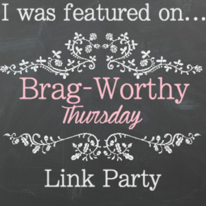Welcome back to another great Brag Worthy Thursday! Come and get some new ideas and great inspiration for your next project! Be sure to follow your hosts!