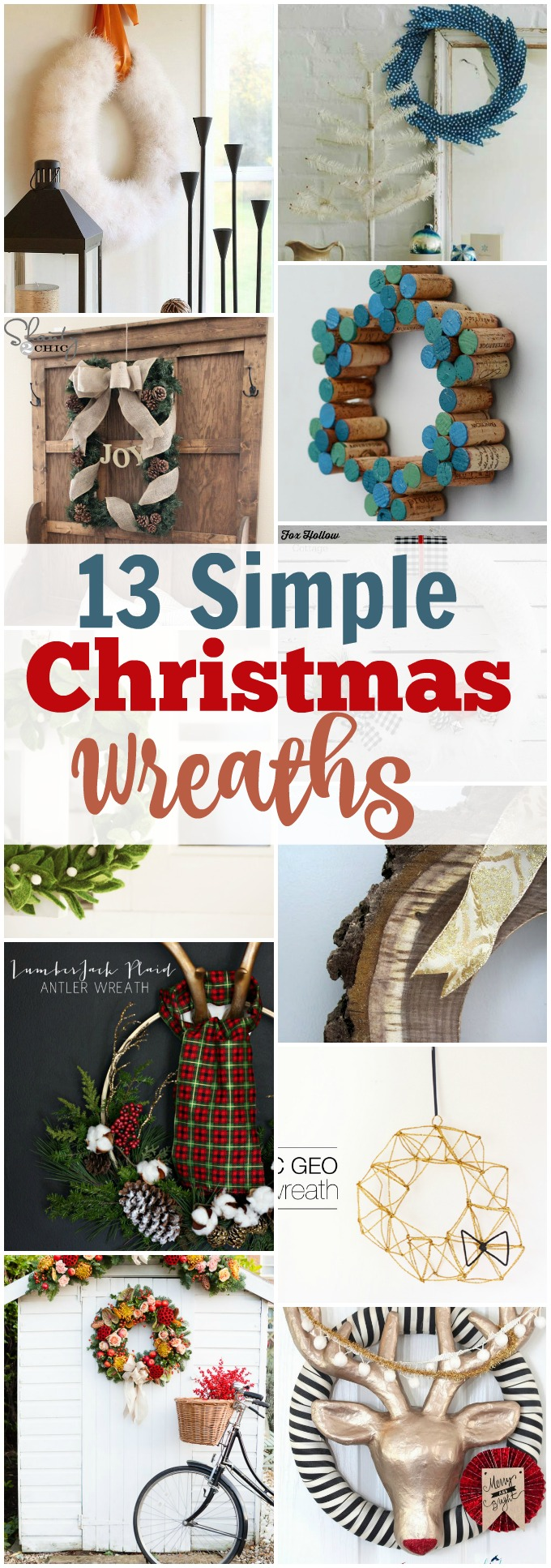 I want to make a wreath but don't want it to be hard! This list of 13 Simple Christmas Wreaths looks like it will be the perfect thing for me, pinning!