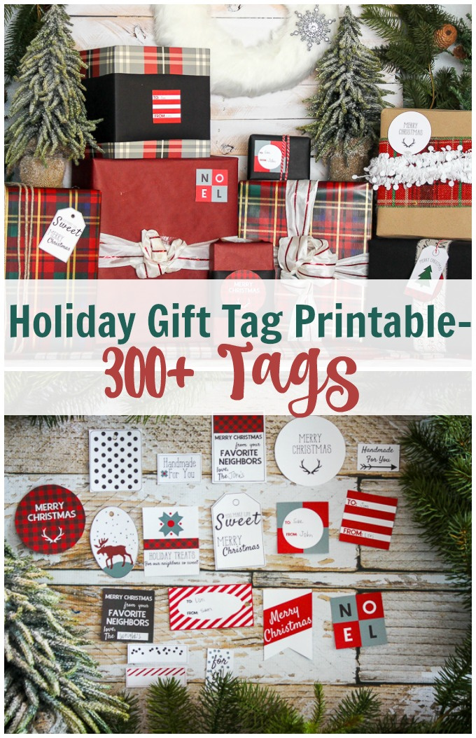 holiday gift tag pinterst image