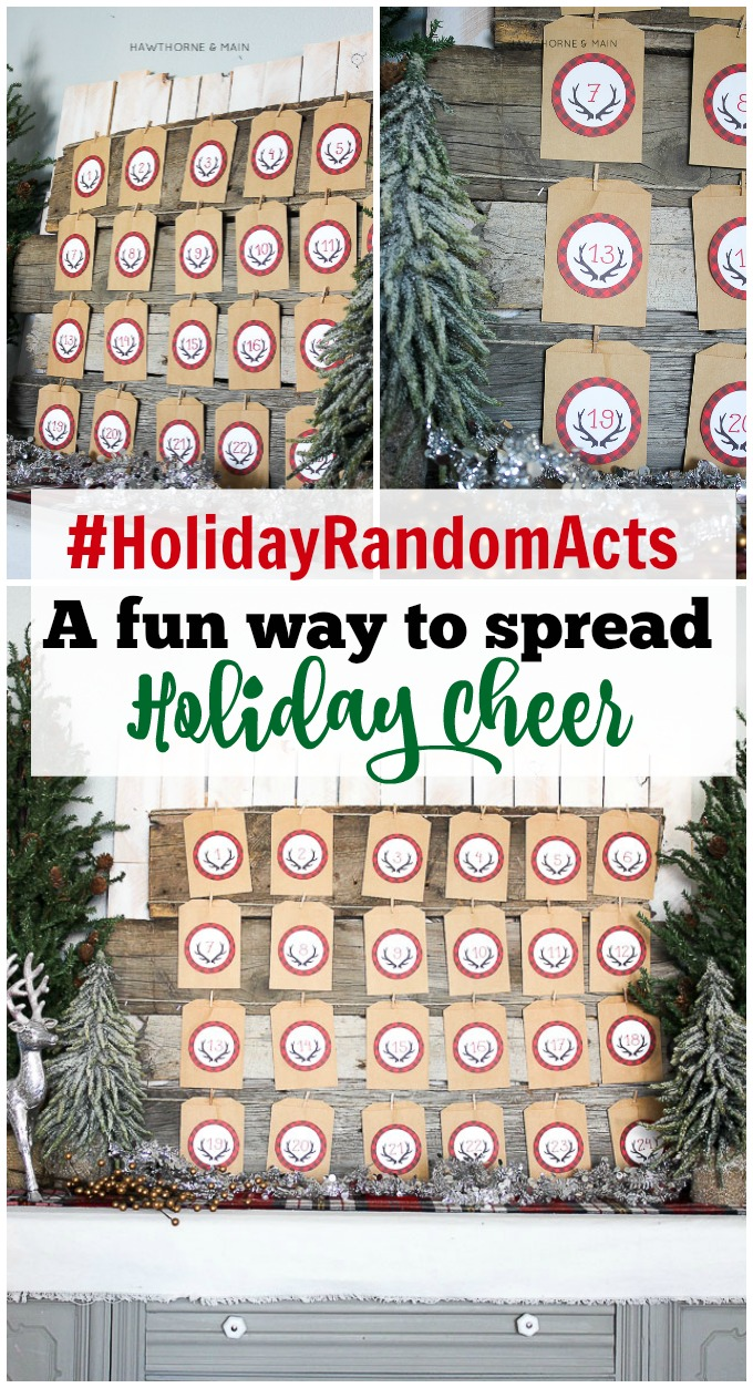 What a great idea to get into the spirit of giving.  With the #HolidayRandomActs. Have everyone do random acts of kindness.  Pinning this for our family!