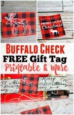Buffalo Check Printable Gift Tags and More